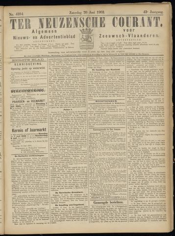 Ter Neuzensche Courant. Algemeen Nieuws- en Advertentieblad voor Zeeuwsch-Vlaanderen / Neuzensche Courant ... (idem) / (Algemeen) nieuws en advertentieblad voor Zeeuwsch-Vlaanderen 1903-06-20