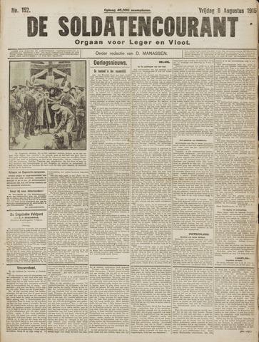 De Soldatencourant. Orgaan voor Leger en Vloot 1915-08-06