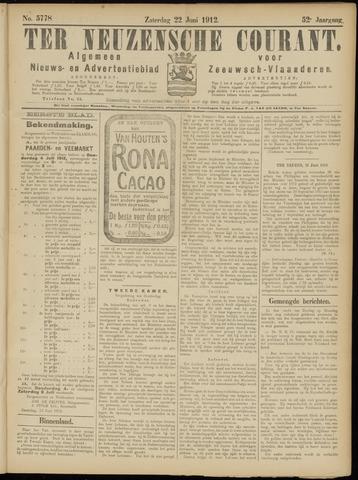 Ter Neuzensche Courant. Algemeen Nieuws- en Advertentieblad voor Zeeuwsch-Vlaanderen / Neuzensche Courant ... (idem) / (Algemeen) nieuws en advertentieblad voor Zeeuwsch-Vlaanderen 1912-06-22