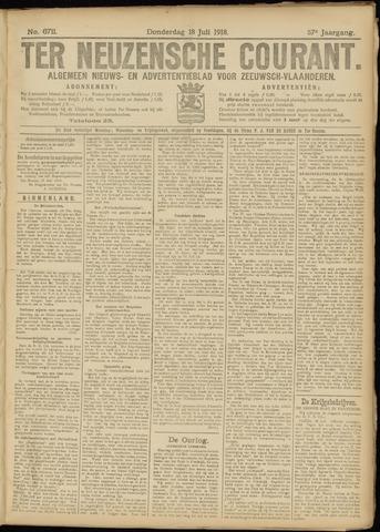 Ter Neuzensche Courant. Algemeen Nieuws- en Advertentieblad voor Zeeuwsch-Vlaanderen / Neuzensche Courant ... (idem) / (Algemeen) nieuws en advertentieblad voor Zeeuwsch-Vlaanderen 1918-07-18
