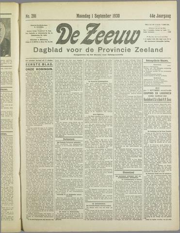 De Zeeuw. Christelijk-historisch nieuwsblad voor Zeeland 1930-09-01