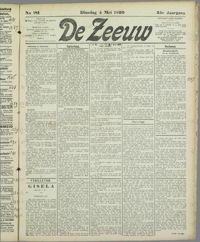 De Zeeuw. Christelijk-historisch nieuwsblad voor Zeeland 1920-05-04