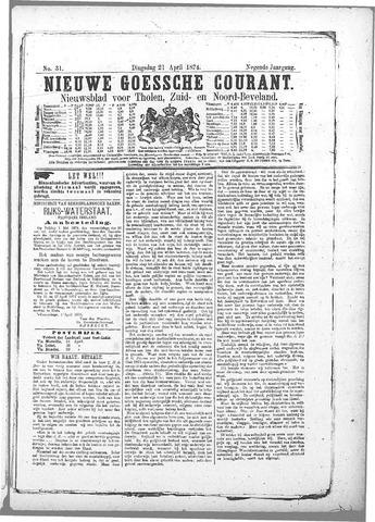 Nieuwe Goessche Courant 1874-04-21