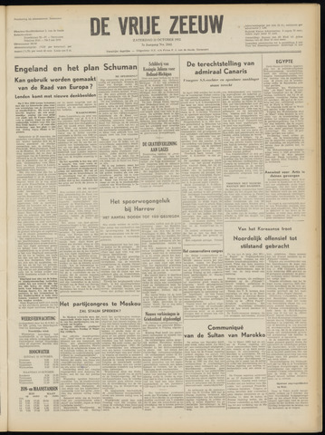 de Vrije Zeeuw 1952-10-11