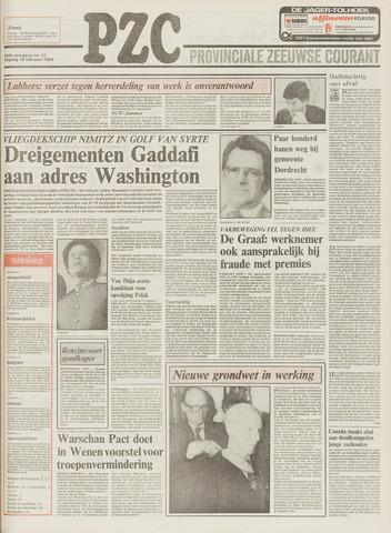 Provinciale Zeeuwse Courant 1983-02-18