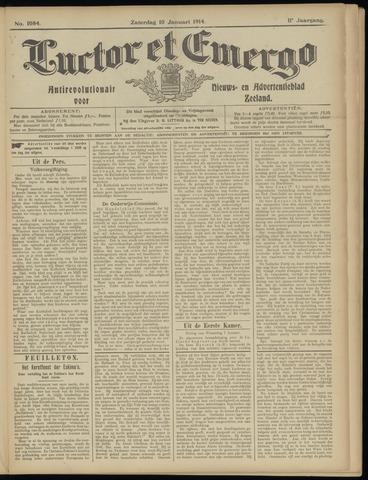Luctor et Emergo. Antirevolutionair nieuws- en advertentieblad voor Zeeland / Zeeuwsch-Vlaanderen. Orgaan ter verspreiding van de christelijke beginselen in Zeeuwsch-Vlaanderen 1914-01-10