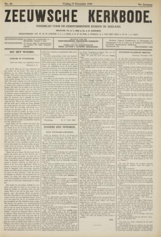 Zeeuwsche kerkbode, weekblad gewijd aan de belangen der gereformeerde kerken/ Zeeuwsch kerkblad 1940-11-15