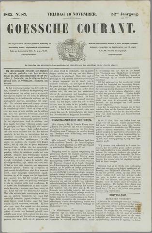 Goessche Courant 1865-11-10