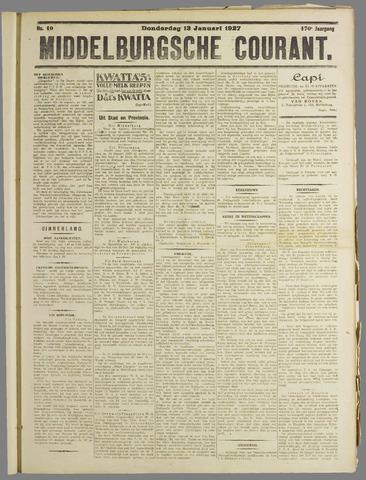 Middelburgsche Courant 1927-01-13