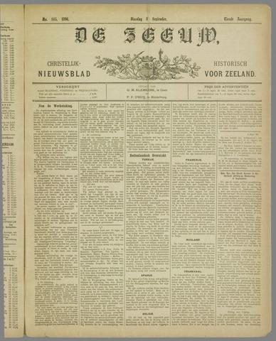 De Zeeuw. Christelijk-historisch nieuwsblad voor Zeeland 1896-09-08