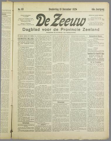 De Zeeuw. Christelijk-historisch nieuwsblad voor Zeeland 1929-12-19