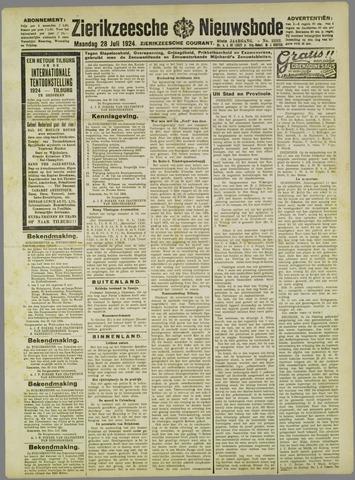 Zierikzeesche Nieuwsbode 1924-07-28