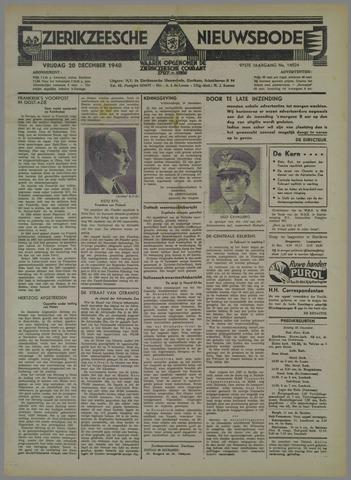 Zierikzeesche Nieuwsbode 1940-12-20
