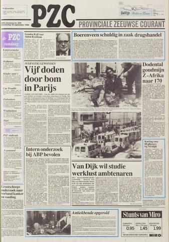 Provinciale Zeeuwse Courant 1986-09-18