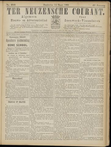 Ter Neuzensche Courant. Algemeen Nieuws- en Advertentieblad voor Zeeuwsch-Vlaanderen / Neuzensche Courant ... (idem) / (Algemeen) nieuws en advertentieblad voor Zeeuwsch-Vlaanderen 1901-03-14