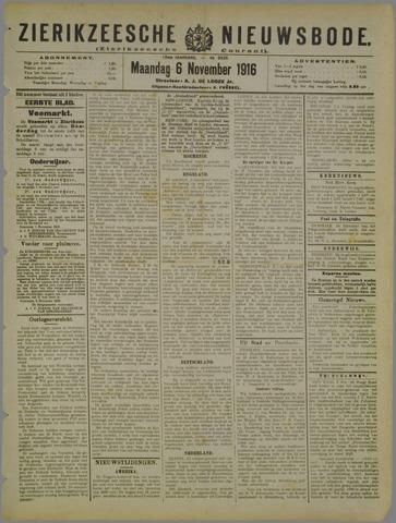 Zierikzeesche Nieuwsbode 1916-11-06