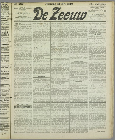 De Zeeuw. Christelijk-historisch nieuwsblad voor Zeeland 1920-05-31