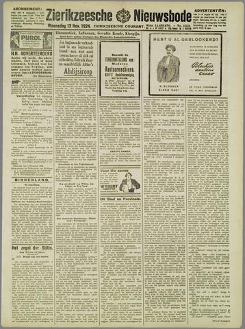 Zierikzeesche Nieuwsbode 1924-11-12