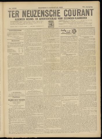 Ter Neuzensche Courant. Algemeen Nieuws- en Advertentieblad voor Zeeuwsch-Vlaanderen / Neuzensche Courant ... (idem) / (Algemeen) nieuws en advertentieblad voor Zeeuwsch-Vlaanderen 1935-08-05