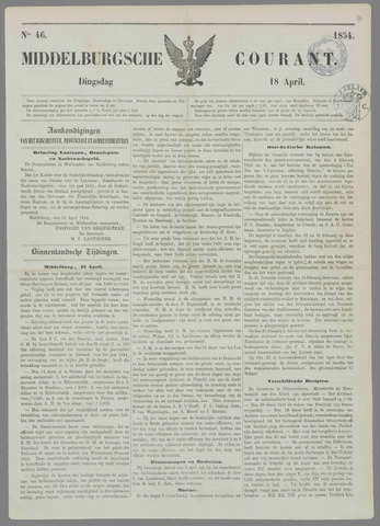Middelburgsche Courant 1854-04-18