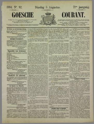 Goessche Courant 1884-08-05