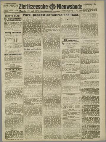Zierikzeesche Nieuwsbode 1925-06-29