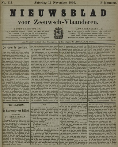 Nieuwsblad voor Zeeuwsch-Vlaanderen 1893-11-11