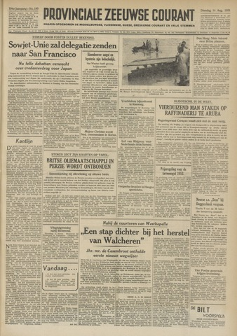 Provinciale Zeeuwse Courant 1951-08-14