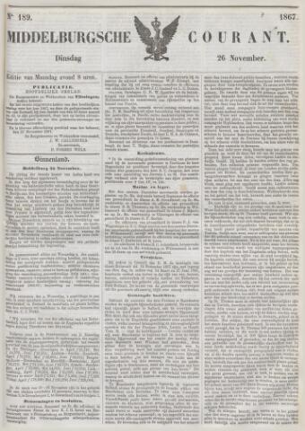 Middelburgsche Courant 1867-11-26