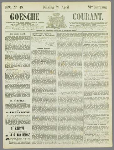 Goessche Courant 1894-04-24