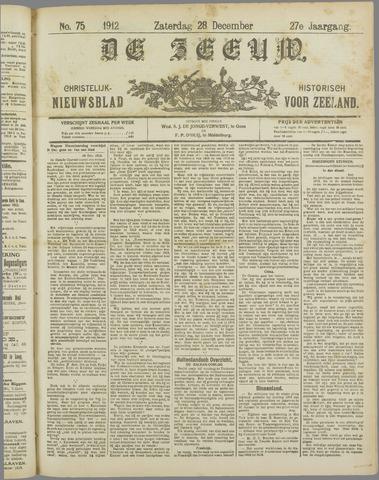 De Zeeuw. Christelijk-historisch nieuwsblad voor Zeeland 1912-12-28
