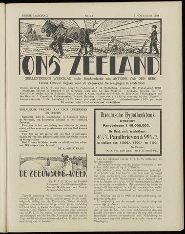 Ons Zeeland / Zeeuwsche editie 1928-11-03