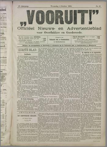 """""""Vooruit!""""Officieel Nieuws- en Advertentieblad voor Overflakkee en Goedereede 1905-10-04"""