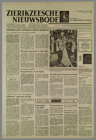 Zierikzeesche Nieuwsbode 1963-04-25