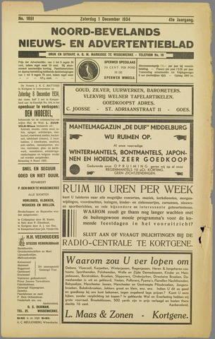 Noord-Bevelands Nieuws- en advertentieblad 1934-12-01