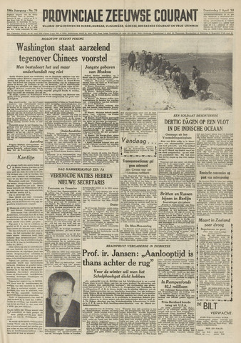 Provinciale Zeeuwse Courant 1953-04-02