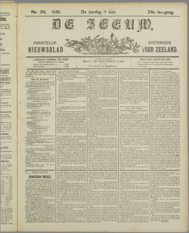 De Zeeuw. Christelijk-historisch nieuwsblad voor Zeeland 1910-06-09