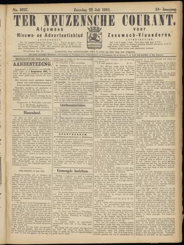 Ter Neuzensche Courant. Algemeen Nieuws- en Advertentieblad voor Zeeuwsch-Vlaanderen / Neuzensche Courant ... (idem) / (Algemeen) nieuws en advertentieblad voor Zeeuwsch-Vlaanderen 1911-07-22