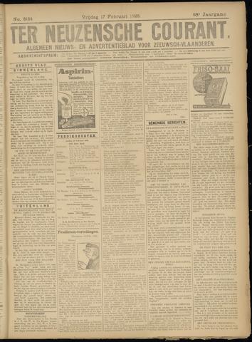 Ter Neuzensche Courant. Algemeen Nieuws- en Advertentieblad voor Zeeuwsch-Vlaanderen / Neuzensche Courant ... (idem) / (Algemeen) nieuws en advertentieblad voor Zeeuwsch-Vlaanderen 1928-02-17