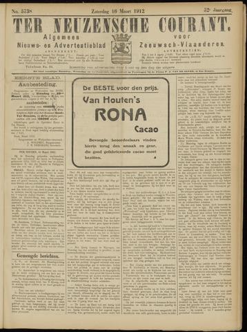 Ter Neuzensche Courant. Algemeen Nieuws- en Advertentieblad voor Zeeuwsch-Vlaanderen / Neuzensche Courant ... (idem) / (Algemeen) nieuws en advertentieblad voor Zeeuwsch-Vlaanderen 1912-03-16