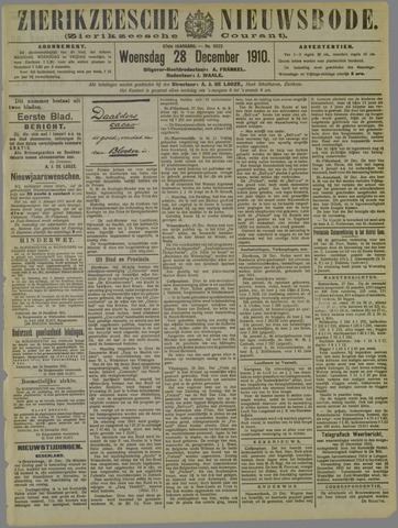 Zierikzeesche Nieuwsbode 1910-12-28