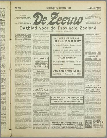 De Zeeuw. Christelijk-historisch nieuwsblad voor Zeeland 1930-01-25