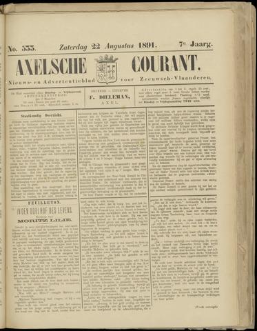 Axelsche Courant 1891-08-22