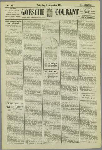 Goessche Courant 1924-08-09
