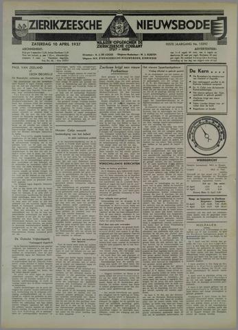 Zierikzeesche Nieuwsbode 1937-04-10