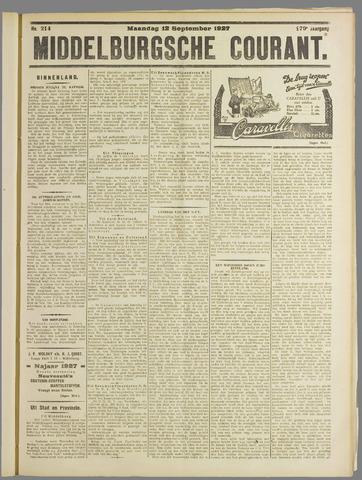Middelburgsche Courant 1927-09-12