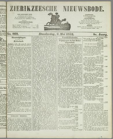 Zierikzeesche Nieuwsbode 1852-05-06
