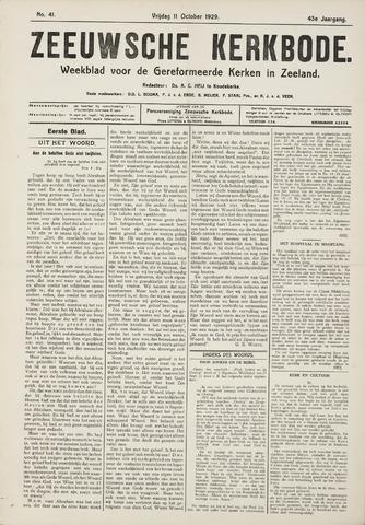 Zeeuwsche kerkbode, weekblad gewijd aan de belangen der gereformeerde kerken/ Zeeuwsch kerkblad 1929-10-11