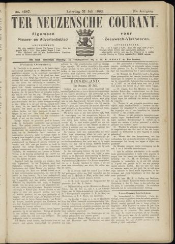 Ter Neuzensche Courant. Algemeen Nieuws- en Advertentieblad voor Zeeuwsch-Vlaanderen / Neuzensche Courant ... (idem) / (Algemeen) nieuws en advertentieblad voor Zeeuwsch-Vlaanderen 1880-07-31