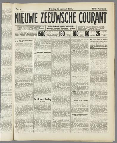 Nieuwe Zeeuwsche Courant 1915-01-12